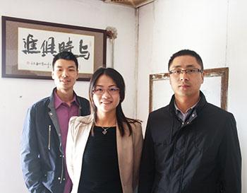 中国建材网来访汉林腻子生产工厂
