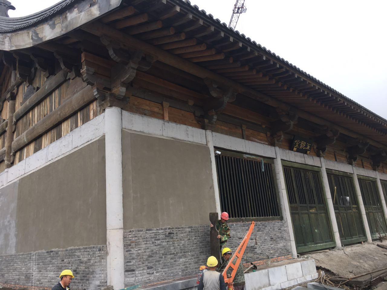 汉林水性腻子用于户外古建筑翻新、木材裂缝修补效果出众