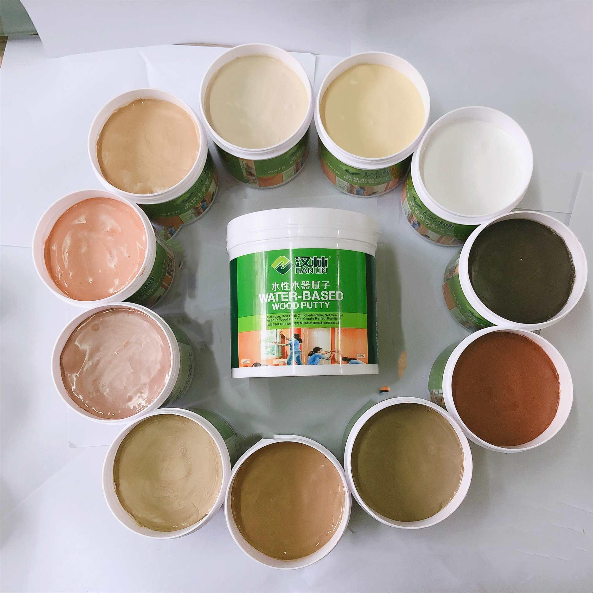 汉林水性木器腻子与普通自调水性腻子膏相比,修补效果更甚一筹!